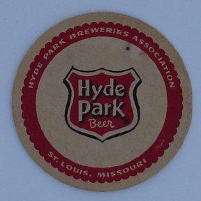 Beer Coaster Hyde Park 1950`s Round 3-3/8 (Hyde Park Beer)