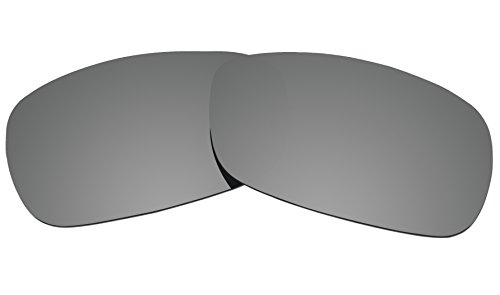COLOR STAY LENSES 2.0mm Thickness Polarized Replacement Lenses for Oakley Crosshair 2.0 (OO4044) Sunglass (Titanium Mirror - Sunglass Titanium