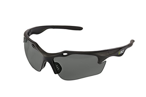 Smoked Grey Lens - EGO Power+ GS002 Anti-Scratch Safety Glasses with 99.99-Percent UV Protection and ANSI Z87.1 Standards, Grey Lens
