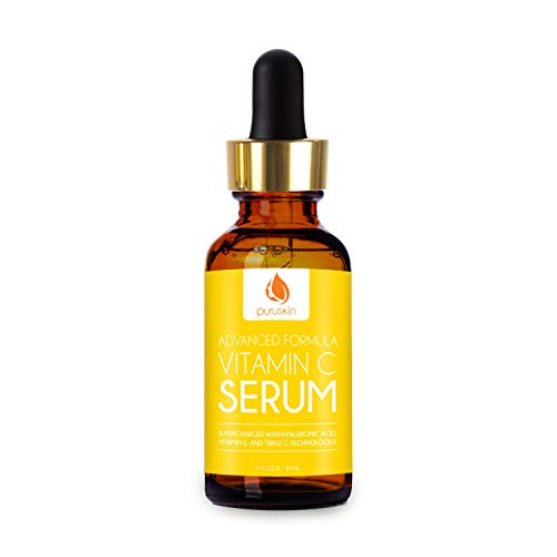 Best Advanced Vitamin C Serum for Face & Neck, Super-Charged with Vitamins E + Hyaluronic Acid To Assist Your Skins Anti Aging Pursuit to Improve Wrinkles, Acne, Scarring