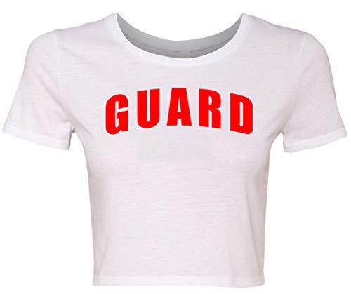 BLARIX Womens Guard Crop Shirt (White, XS/S)