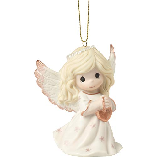 Precious Moments Rejoice in The Wonders of His Love 9th Annual Angel Bisque Porcelain 191024 Ornament, One Size, Multi