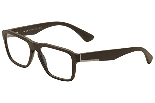 Prada Eyeglasses VPR 04S TFD-1O1 Matte Brown 55mm ()