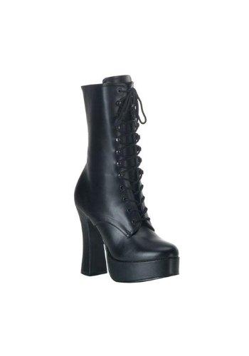 Women's 5 Inch Stack Heel with 1 1/2 Inch Platform (Black ()