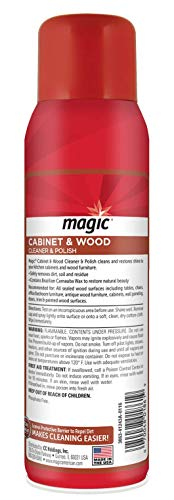 Magic Wood Deep Cleaner and Polish - 17 Ounce [2 Pack] - Heavy Use Wood Furniture Cabinet Table Chair Natural Brazilian Carnauba Wax and Oil - Streak Free by Magic (Image #1)
