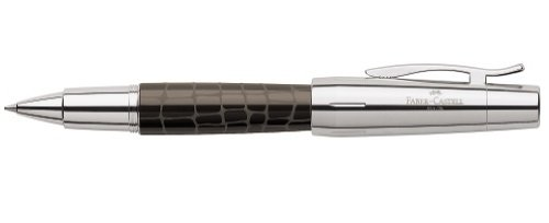 Faber-Castell Design E-Motion Precious Resin Crocodile Brown Rollerball 148275