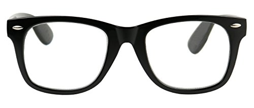 55475bd621e Amazon.com  ShadyVEU - Classic Round 80 s Style Reading Rx Optical  Magnification Vision Eye Glasses (Black