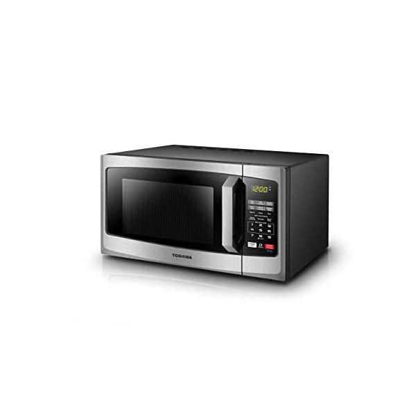 Toshiba EM925A5A-SS Microwave Oven with Sound On/Off ECO Mode and LED Lighting 0.9 cu. ft. Stainless Steel (Renewed) 3