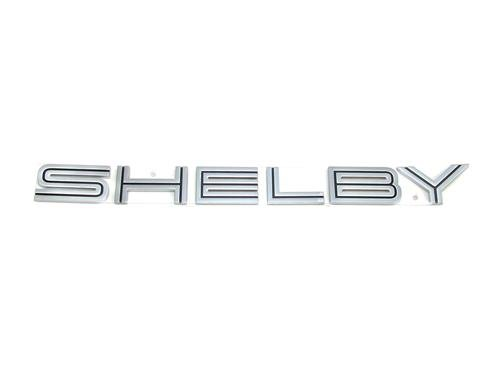 (Boominge FM-SB Silver Shelby Lettering Trunk Deck Lid Emblem Badge Plate w/Adhesive For Mustang (Black) )