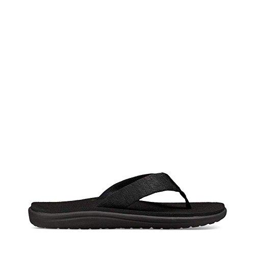 Teva Men's M Voya Flip Flop, Brick Black, 11 M (Webbing Flip Sandal)
