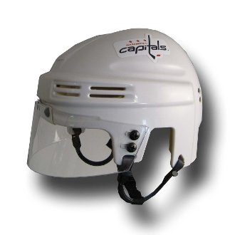 (NHL Washington Capitals Replica Mini Hockey Helmet)