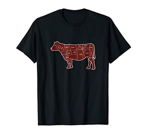 Meat map of cow, but every cut is ASS (Ass Womens Cut T-shirt)