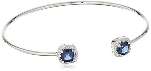 Diamond & Sapphire Bangle Bracelet - 1