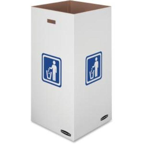 Bankers Box Large Corrugated Cardboard Trash and Recycling Containers , 50 Gallon, 10 Each (7320201) - Corrugated Trash Receptacle