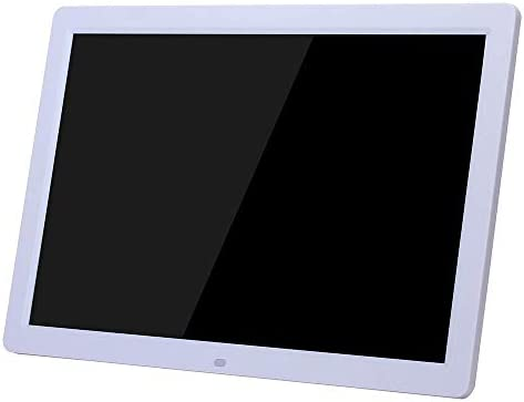 Digital Frame 17 Inch Digital Photo Frame 1440900 Pixels High Resolution 1080P HD Video Playback USB And SD Card Slots,Auto On//Off Timer High resolution display Color : White , Size : 17 inch