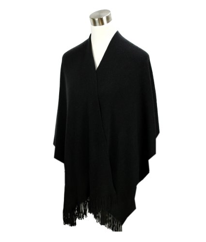 Modadorn New Basic Solid Winter Ruana Fringe Women's Fashion, Shawl & Accessories