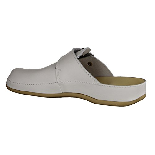 Vital 0934-0110- Herrenschuhe Sandale / Pantolette, Weiß, leder