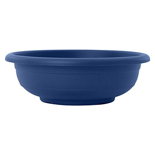 Almi Graden Plastic Planter Bowl - Round Shaped, 16-Inch, Blue (Plastic Planter Blue)