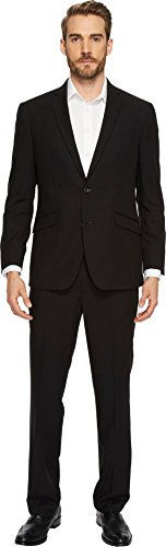 Kenneth Cole Slim Fit Suit (Reaction Kenneth Cole Men's Slim Fit Solid Suit 44 Short)