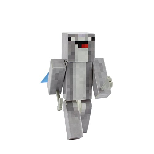 Costume Skin Minecraft Animal (Narwhal Action Figure Toy, 4 Inch Custom Series Figurines by)