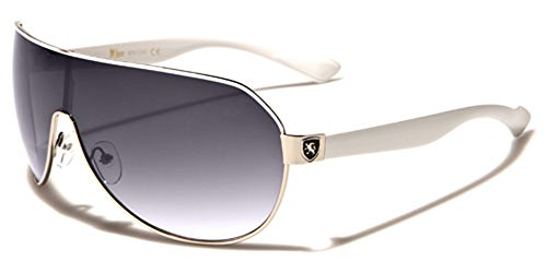 Mens Flat Top Sport Shied Aviator Sunglasses - Multiple Colors (Pilot Sunglasses For Men)