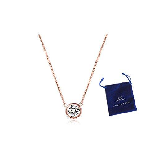 Titanium Golden Single Diamond Necklace