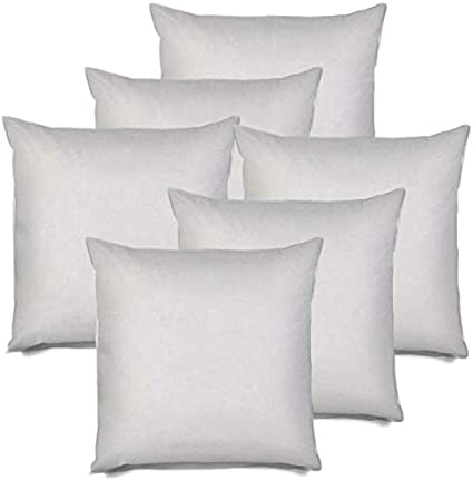 Machine Washable Decorative Pillow Throw Pillow Inserts for Couch Sofa Cushion Hypoallergenic Down Alternative with White Polyester Microfiber Cover IZO All Supply 12x20 6 Pack