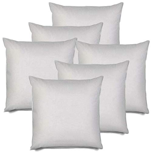 IZO All Supply Square Sham Stuffer Hypo-Allergenic Poly Pillow Form Insert, 18'' L x 18'' W (6 Pack) by IZO All Supply