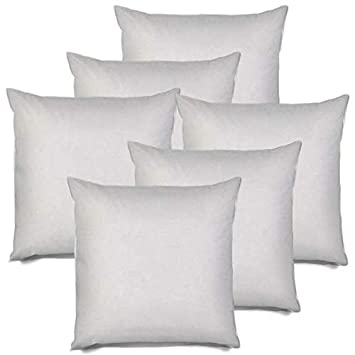 IZO All Supply Square Sham Stuffer Hypo-Allergenic Poly Pillow Form Insert, 18 L x 18 W 6 Pack