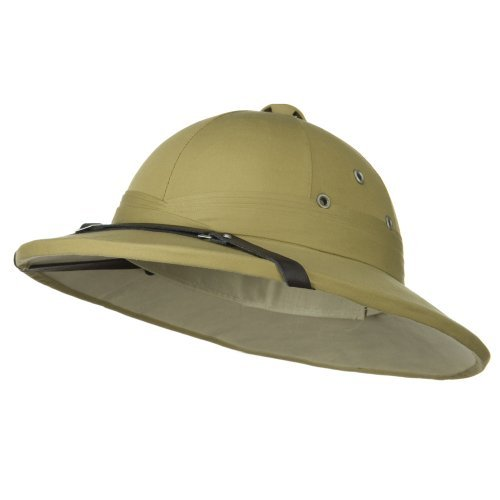 French Tree Bark Pith Helmet - Khaki OSFM