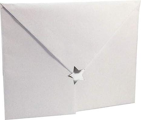 Blanco Estrella Pegatinas 500 Etiquetas en un Rollo 19 mm 3//4 Pulgada de Ancho