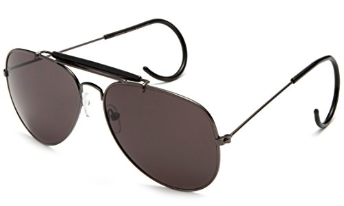 Timeless Classic Aviator Sunglasses with Brow Bar and Cable Wire Wrap Ears Temples Secured - Eyewear Cable Temple