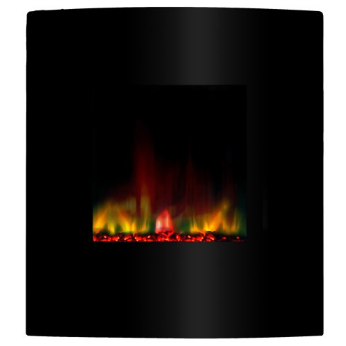 Yosemite Home Decor DF-EFP400 Fantasy Electric Fireplace, Sleek Black