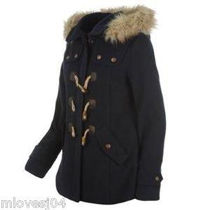 kangol ladies duffle jacket navy blue size 14: Amazon.co.uk: Clothing