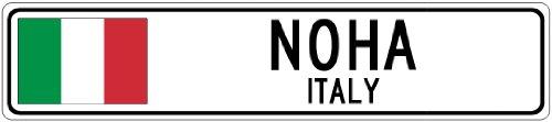 NOHA, ITALY - Italian Flag Aluminum City Sign - 9 x 36 Inches