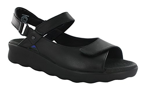Wolky Comfort Sandals 01890 Pichu - 30000 black leather - 39 by Wolky