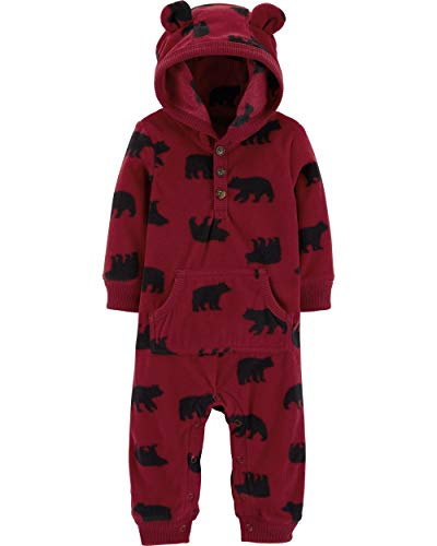 Carter's Baby Boys' University of Awesome Jumpsuit 24 Months,24 Months,Red ()