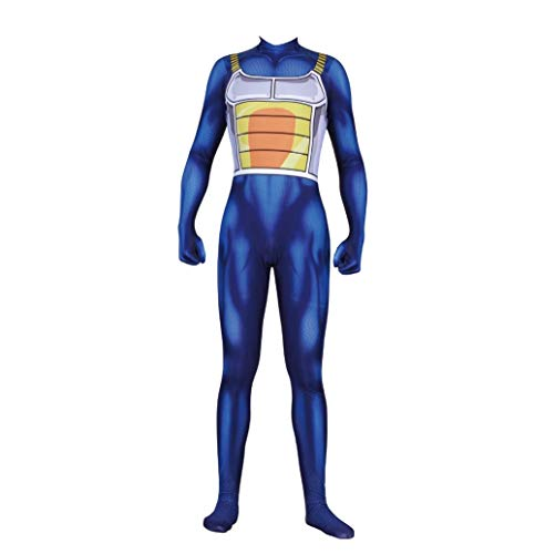 Dragon Ball Z Saiyan Vegeta Jumpsuit Halloween Cosplay Costume Battle Bodysuit S]()