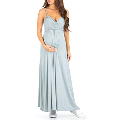 123aac5ae23 Women s Cami Strap Ruched Maternity Dress - Made in USA
