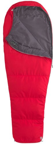 Marmot NanoWave 45 Synthetic Sleeping Bag, Regular-Left, Red, Outdoor Stuffs