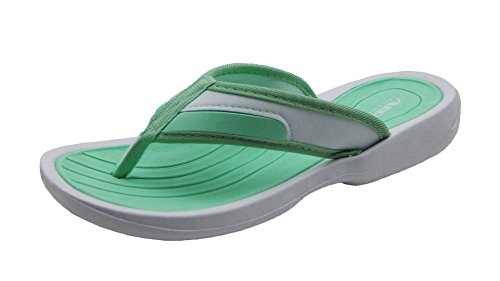 Air Stylish Cute colorful Women's Shower Beach Sandal Slippers Flip Flops In Cheery Colors Mint/White CfqM3p