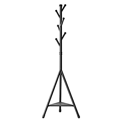 SONGMICS Coat Rack Stand with 6 Hooks and Storage Shelf, Urban Industrial Style, Corner Hall Tree Hanger for Entryway… -  - entryway-furniture-decor, entryway-laundry-room, coat-racks - 311bxG6QjzL. SS400  -