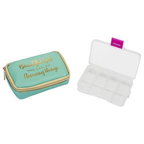 Beautiful Girl Amazing Things Aqua 4.75 x 3 Polyester Canvas Mini Pill Case