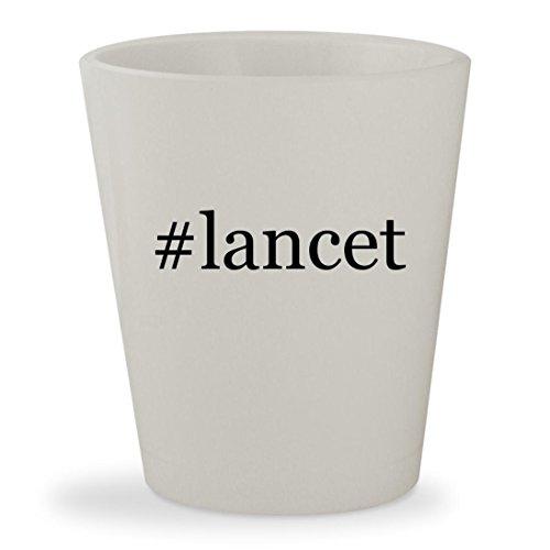 #lancet - White Hashtag Ceramic 1.5oz Shot Glass