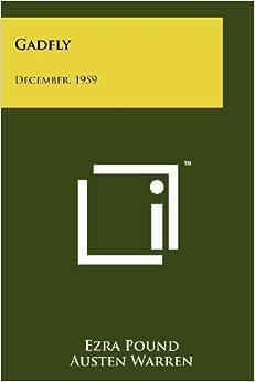 Gadfly: December, 1959