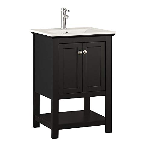 Fresca Manchester 24 Black Traditional Bathroom Vanity