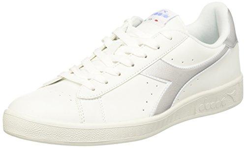 Argento Diadora Collo Uomo a Game Sneaker Chromium Bianco Bianco Basso P vwaPrXqvHA