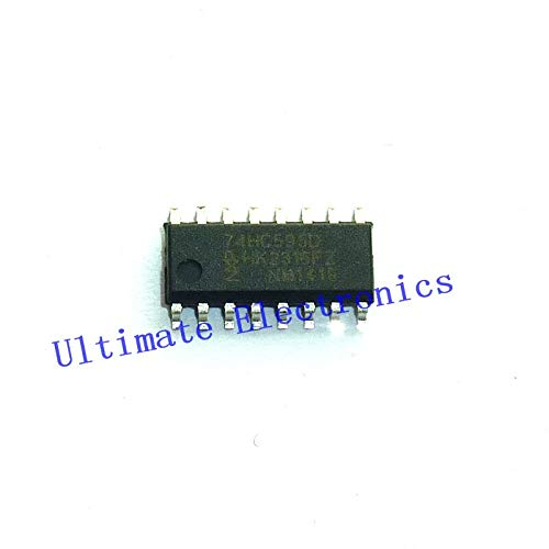 10pcs/lot 74HC595D SOP16 8-bit serial-in/serial or parallel-out shift register with output latches