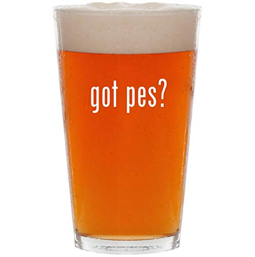 got pes? - 16oz All Purpose Pint Beer Glass