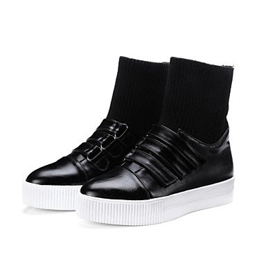 Mid Boots Outdoor RTRY Casual Boots Toe Fashion Fall Heel Calf Tape CN36 Comfort Shoes Boots Women'S US6 Black For Round Magic Flat Pu Winter Novelty UK4 EU36 nzRar16fnW